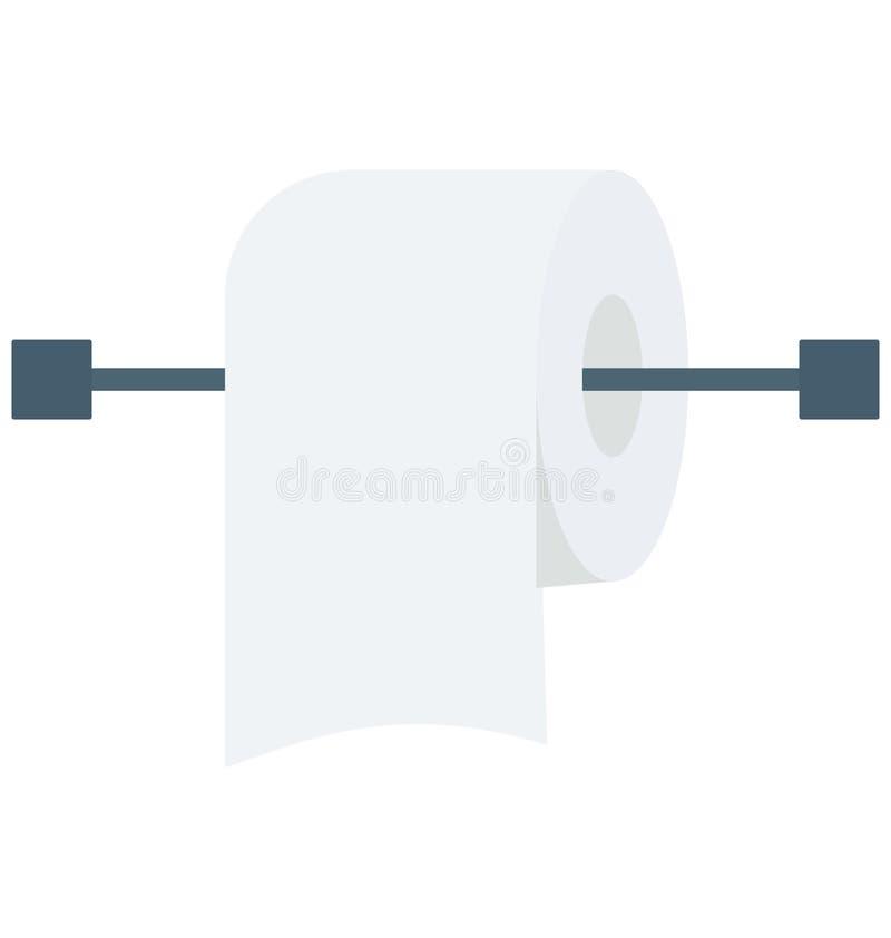 Tkankowej rolki Odosobniona wektorowa ikona ilustracja wektor