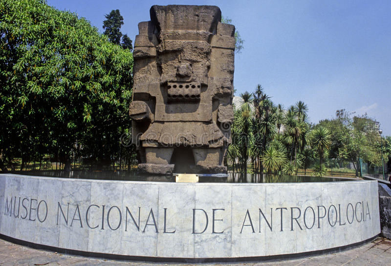 Tlaloc. Sculpture of aztec water god Tlaloc, National Museum of Anthropology in Mexico City stock photos