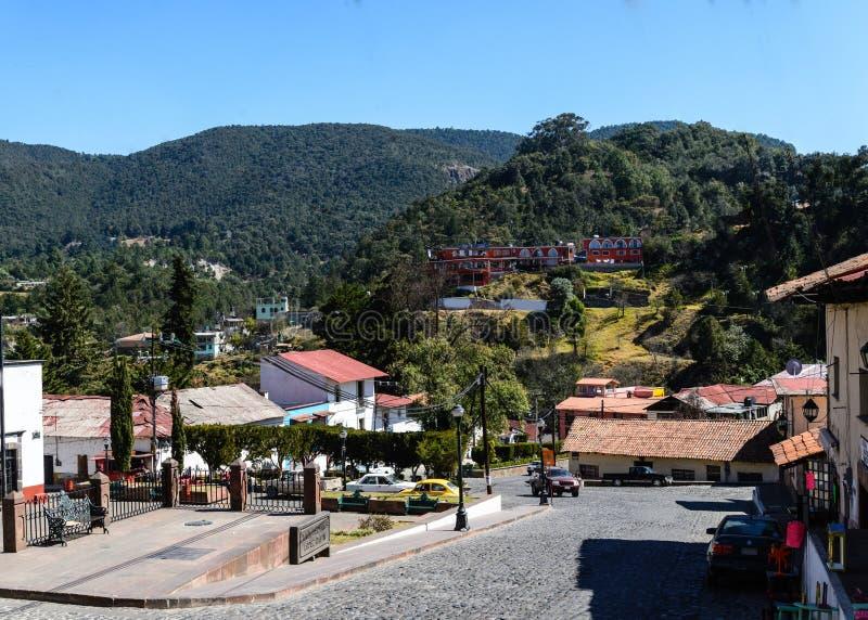 Tlalpujahua Michoacan mexiko lizenzfreies stockfoto