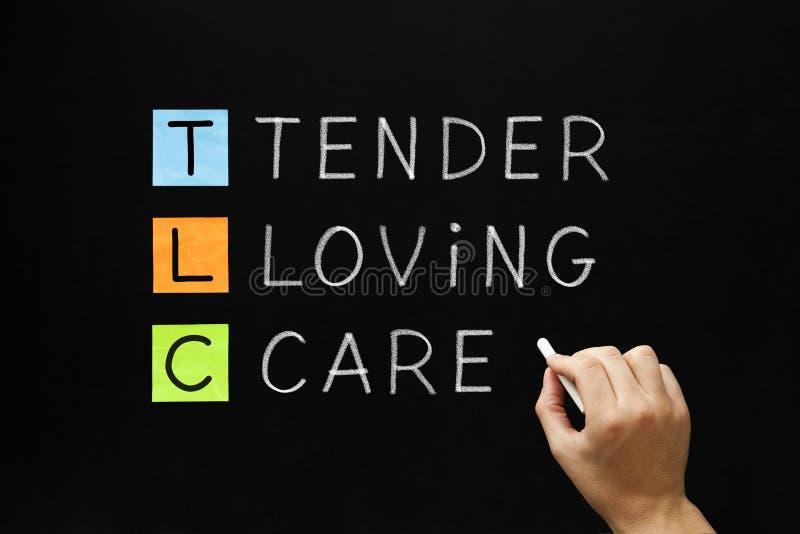 TLC -温柔的爱护 免版税库存图片
