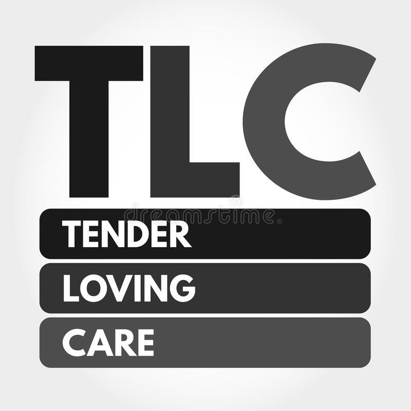 Free TLC - Tender Loving Care Acronym Concept Stock Images - 202533164