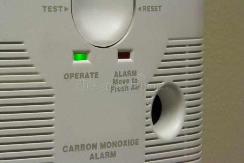 Tlenku węgla alarm fotografia stock
