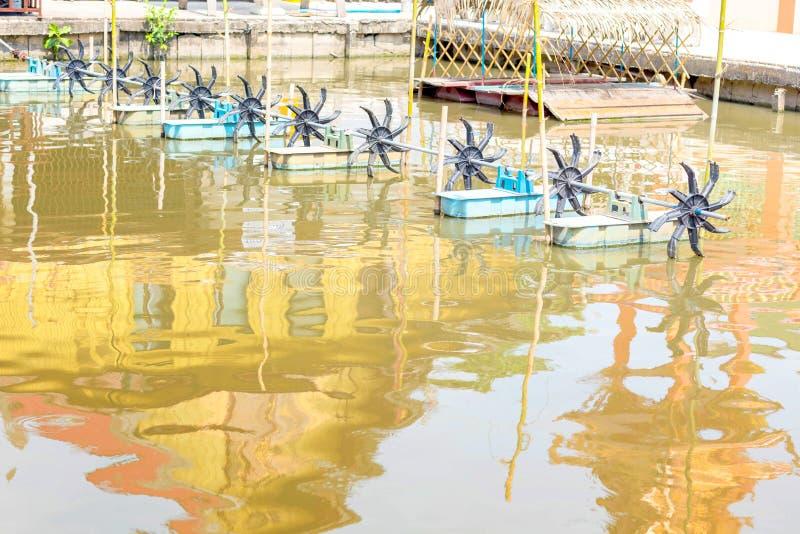 Tlenowy blender w rzece, Ja robi wodny czyści obraz royalty free