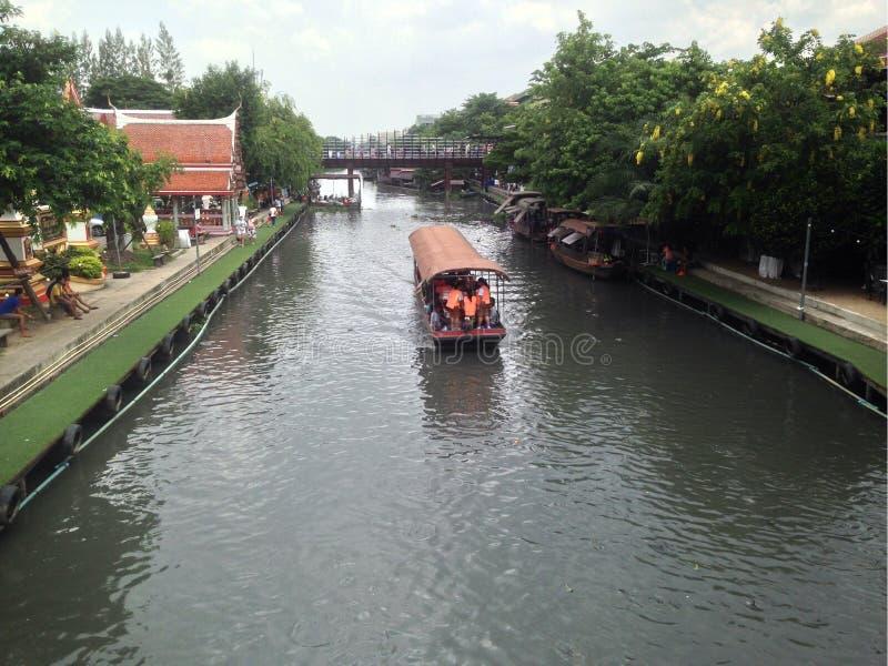 Boat Floating Market Bangkok royalty free stock photography