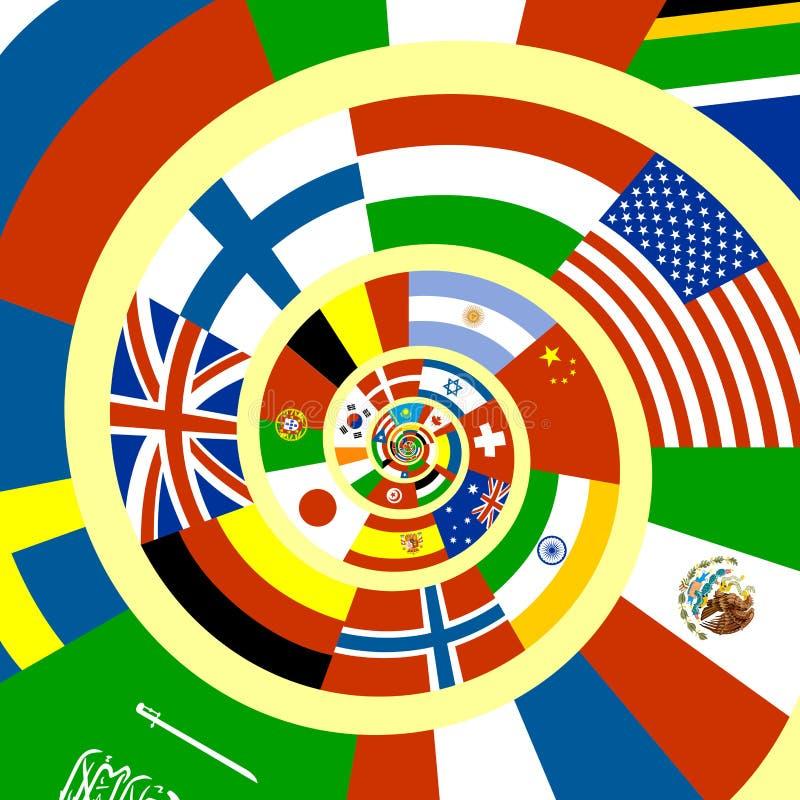 tmisted flaggor royaltyfri illustrationer