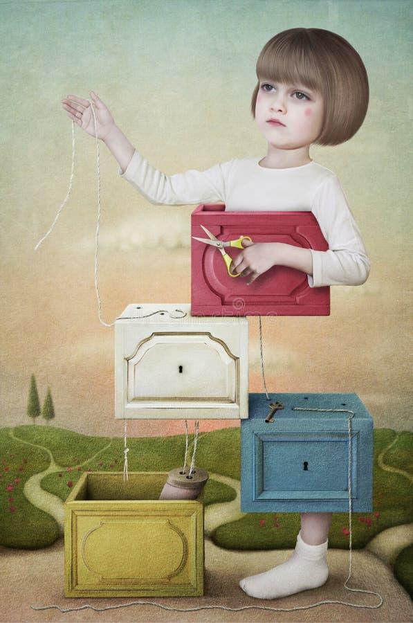 tnąca dziewczyna ilustracja wektor