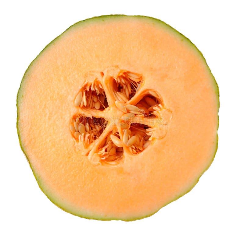 Tnąca połówka melon obraz stock