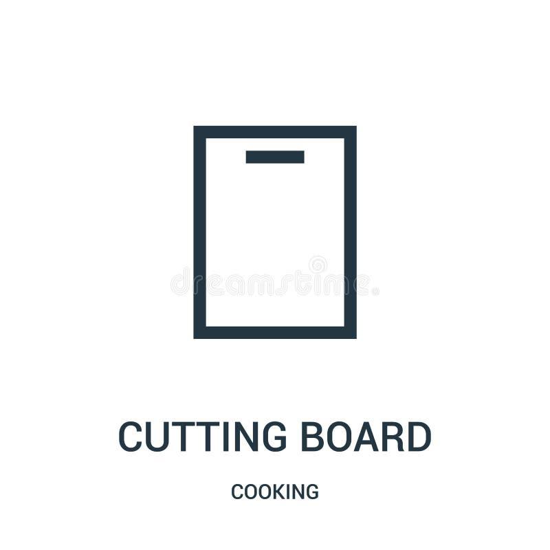tnącej deski ikony wektor od kulinarnej kolekcji Cienka kreskowa tnącej deski konturu ikony wektoru ilustracja Liniowy symbol ilustracja wektor