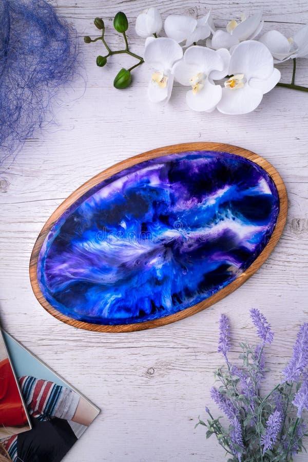Tnącej deski morski abstrakcjonistyczny handmade wzór, lekka drewniana powierzchnia zdjęcia stock