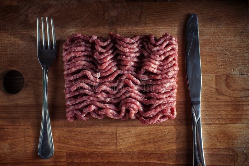 tnący deskowy tnący mięso fotografia stock
