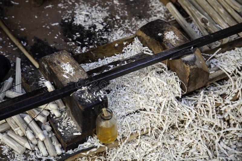 Tnący drewniani układy scaleni zdjęcia stock