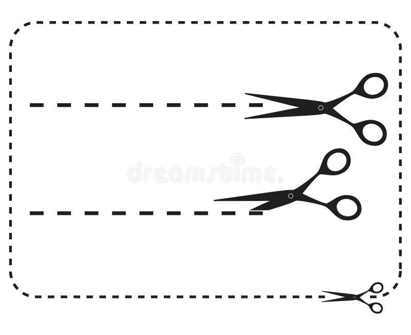 Tnący nożyce ilustracja wektor
