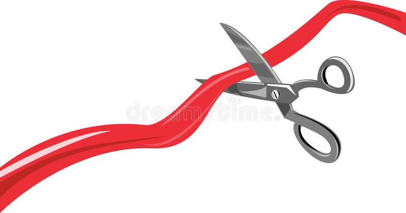 tnący tasiemkowi nożyce ilustracji