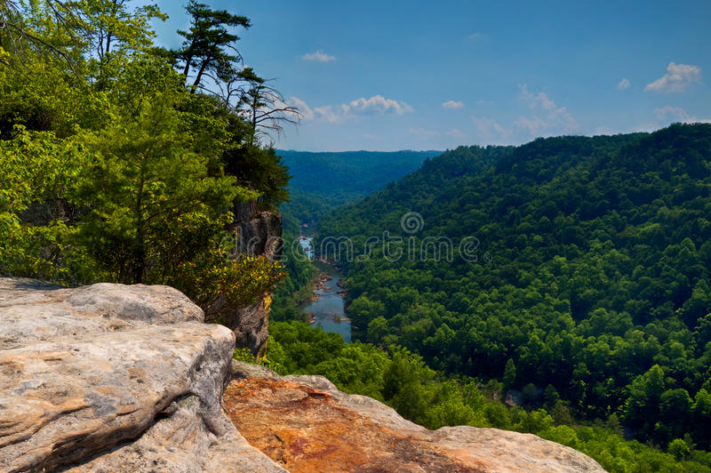 TN-Big South Fork National River and Recreational. The Big South Fork of the Cumberland River runs through this deep gorge, where many kayakers and white -water stock photos