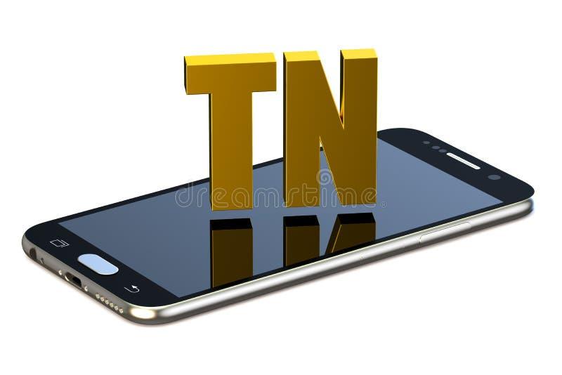 TN pojęcie z smartphone royalty ilustracja