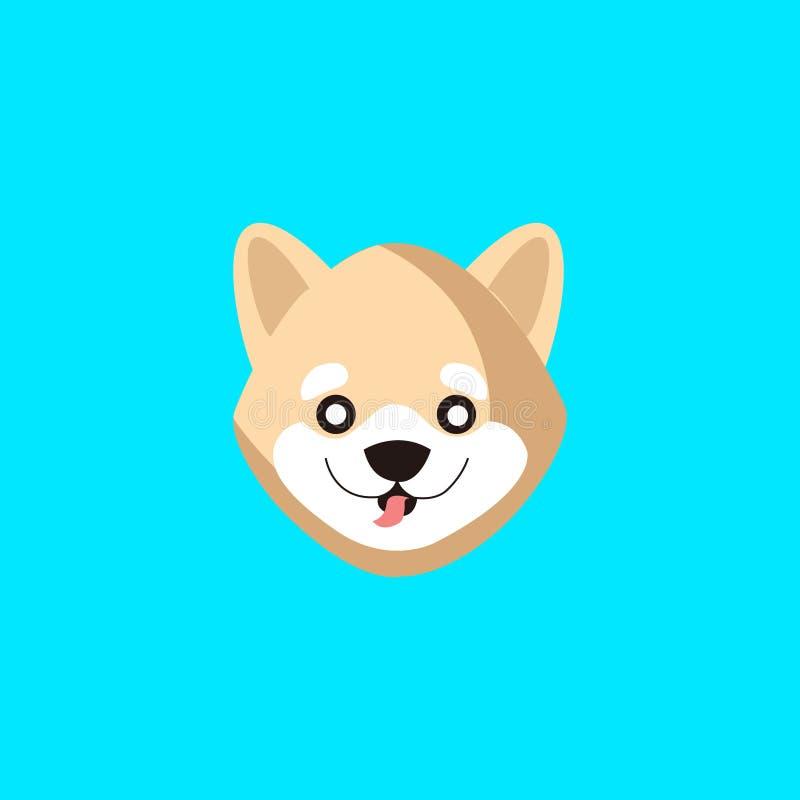 Tne wektor hachiko psa twarz royalty ilustracja