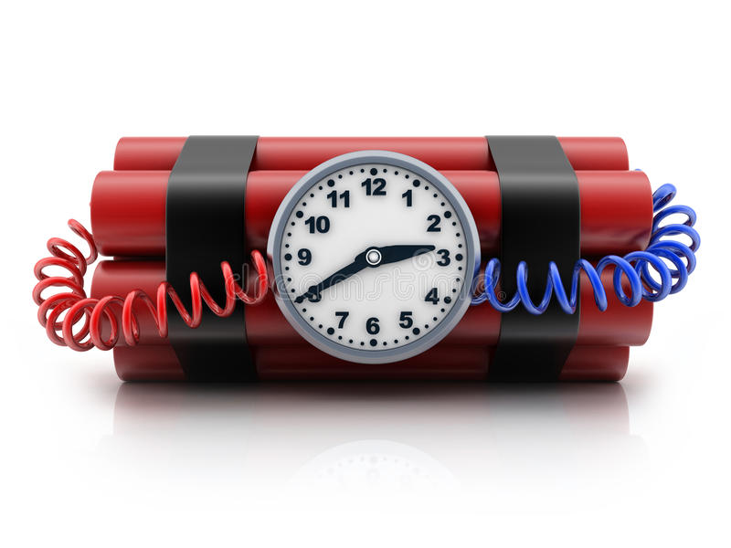 TNT и часы бесплатная иллюстрация