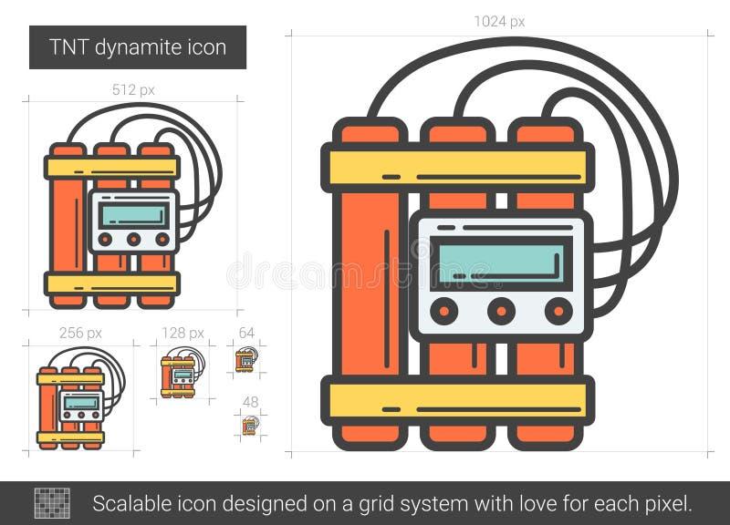 TNT-dynamitlinje symbol royaltyfri illustrationer
