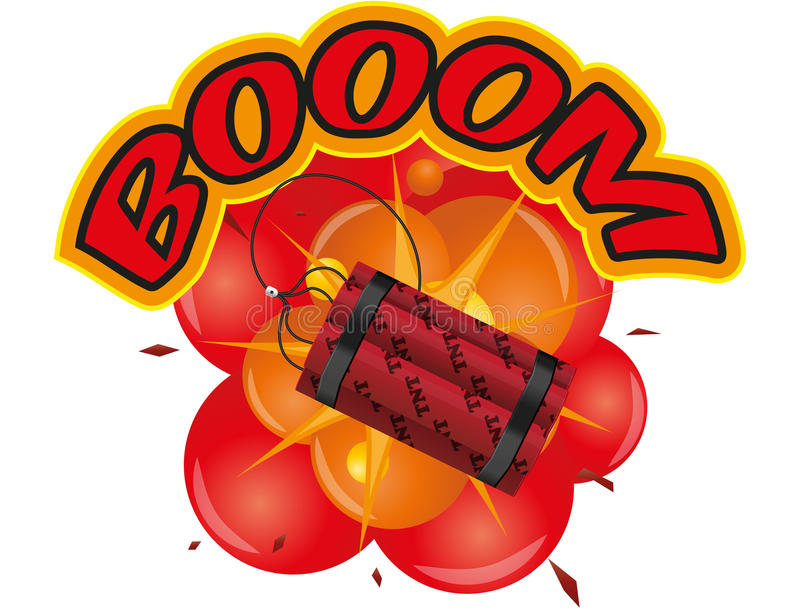 Download Tnt explosion stock vector. Image of comical, booom, destruction - 26625488