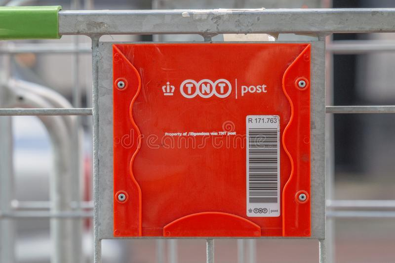 TNT Post Logo At Amsterdam The Netherlands 2019 royalty free stock photos