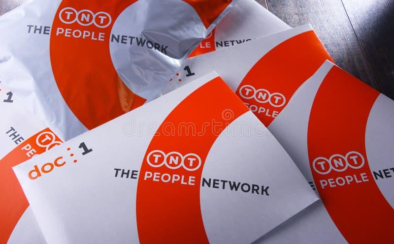 TNT Wyrażają koperty i pakuneczki zdjęcie royalty free