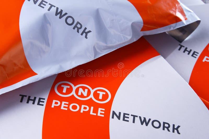 TNT Wyrażają koperty i pakuneczki obraz royalty free