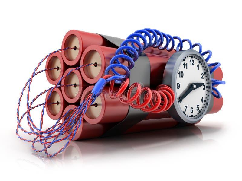 TNT y reloj ilustración del vector