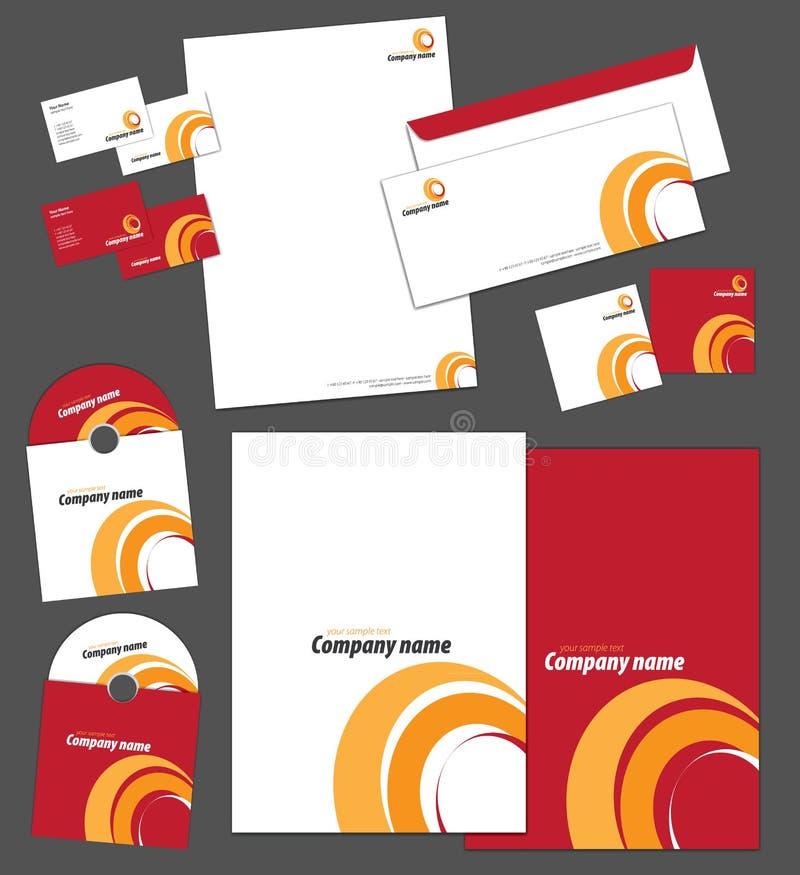 Tożsamość korporacyjny szablon ilustracja wektor