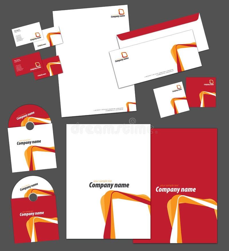 Tożsamość korporacyjny szablon royalty ilustracja
