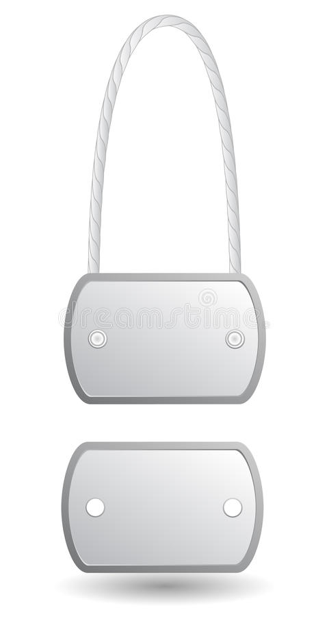 Tożsamości metalu etykietki ilustracja wektor
