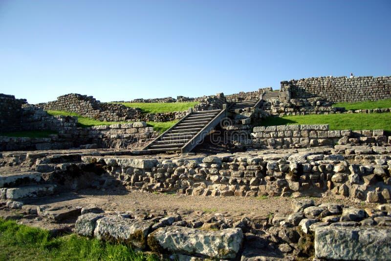 to ściana hadrian ruin zdjęcia royalty free