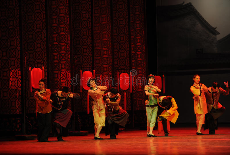 To attend the wedding guests-The first act of dance drama-Shawan events of the past. Guangdong Shawan Town is the hometown of ballet music, the past focuses on royalty free stock image