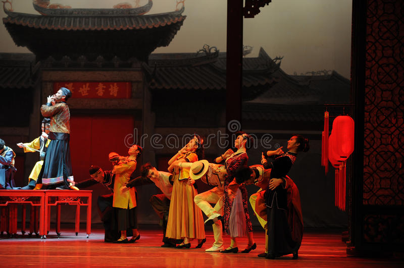 To attend the wedding guests-The first act of dance drama-Shawan events of the past. Guangdong Shawan Town is the hometown of ballet music, the past focuses on stock image