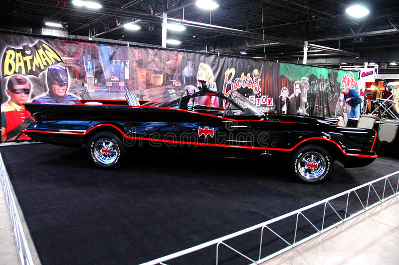 To the Batmobile!. Original Batmobile used in the 1960's television series royalty free stock images