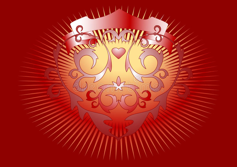 To Be Afire With Passion. Banner.   Postcard.Backg Royalty Free Stock Photo
