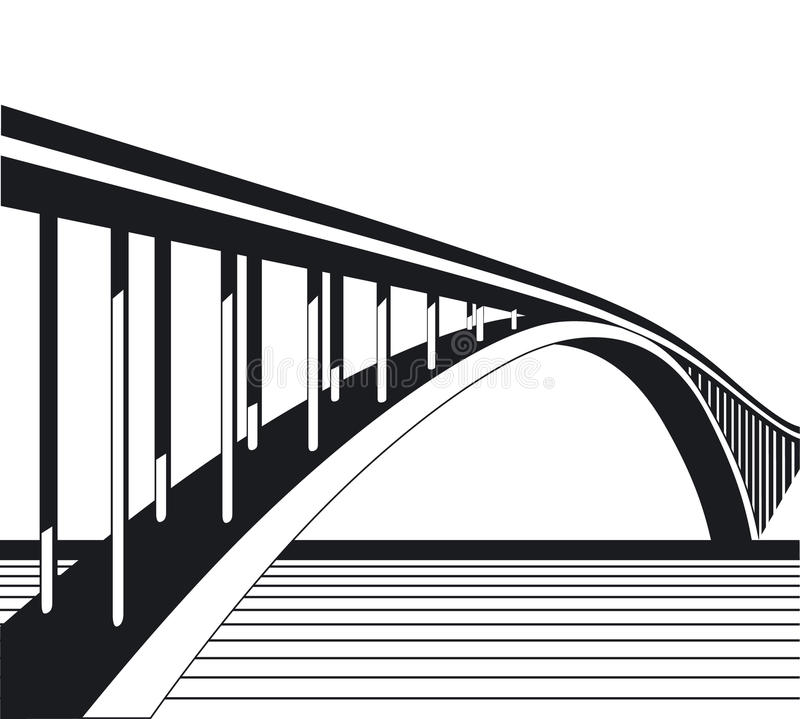 To bridge vector illustration