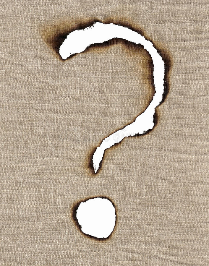 Download To Burn Out The Sign Of Question. Stock Image - Image: 13407493