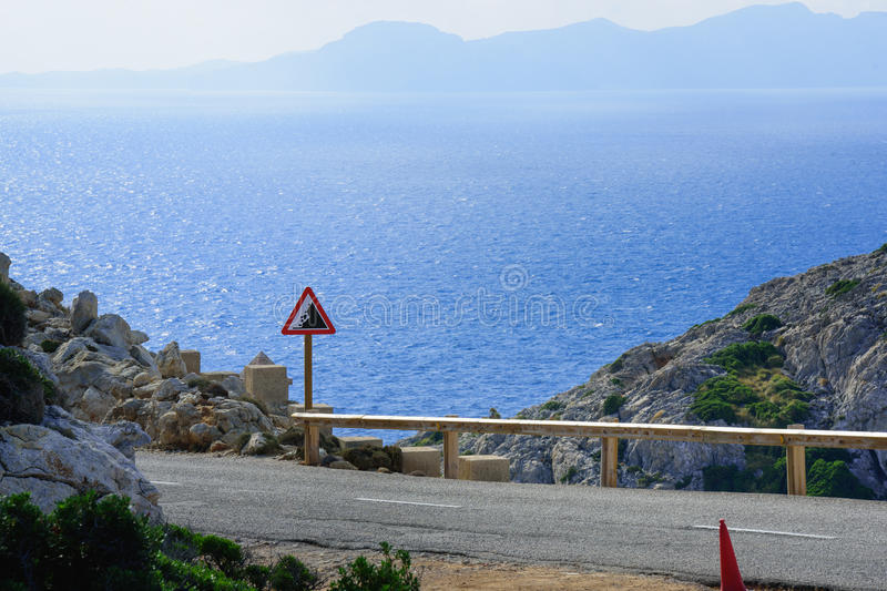 To the Cap Formentor by bus stock photo