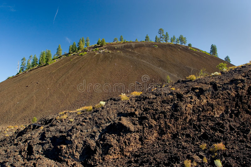 To the Cinder Cone stock image