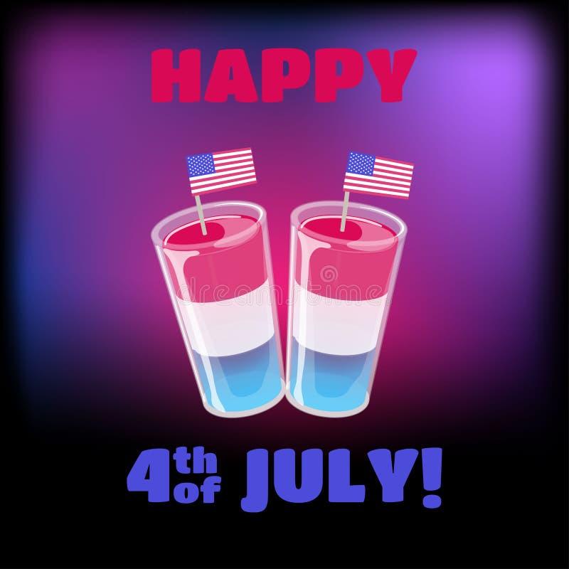 4to de la plantilla de la bandera de julio Aviador o cartel del Día de la Independencia libre illustration