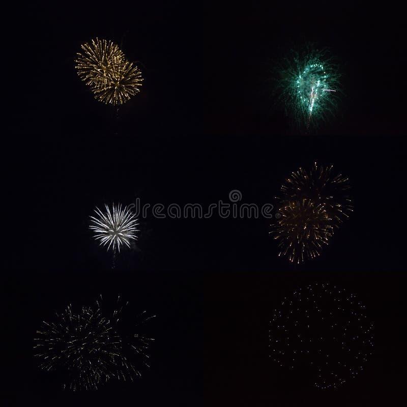 4to de los fuegos artificiales de julio fotos de archivo libres de regalías