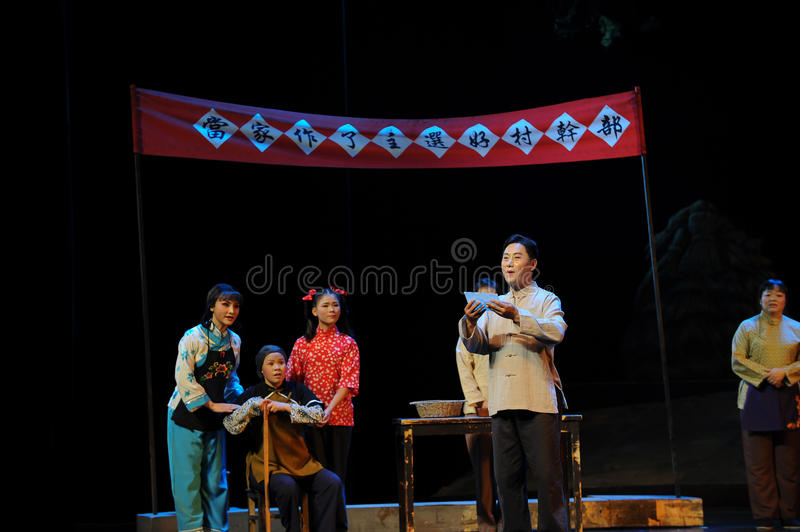 To declare the election results- Jiangxi opera a steelyard. Jiangxi opera a steelyard is adapted from a true story: the last century fortys, the protagonists stock photo