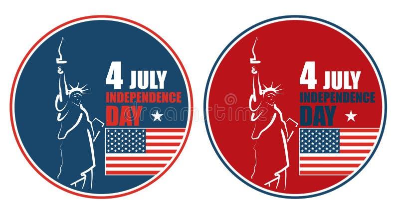 Download 4to Del Día De La Independencia Americano De Julio, Ejemplo Abstracto Ilustración del Vector - Ilustración de elección, color: 41904356