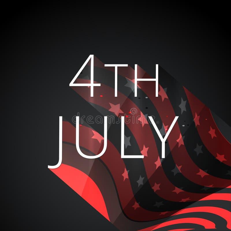 Download 4to del fondo de julio ilustración del vector. Ilustración de bandera - 41919303
