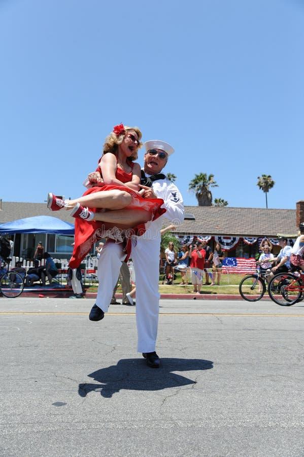 4to del Huntington Beach CA LOS E.E.U.U. del desfile de julio fotografía de archivo libre de regalías