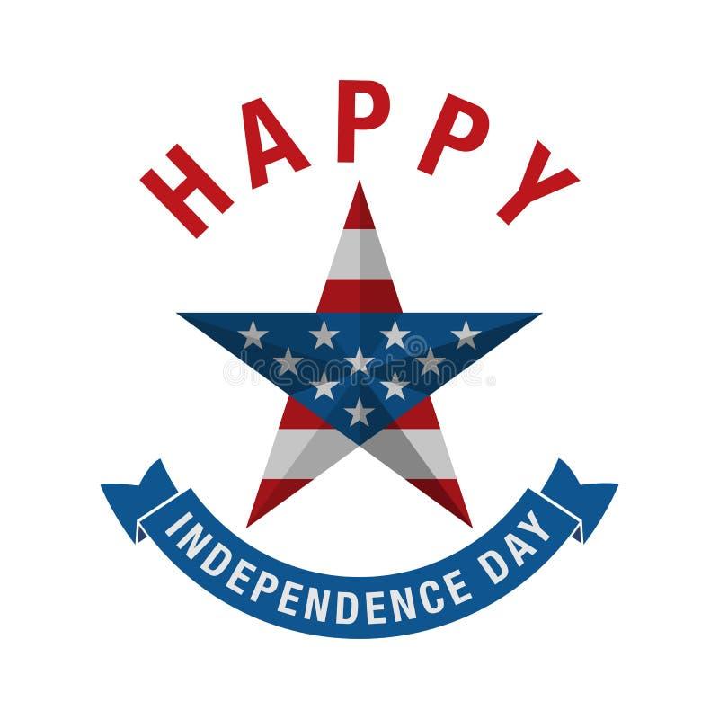 4to del icono de la celebración de julio Día de la Independencia feliz stock de ilustración