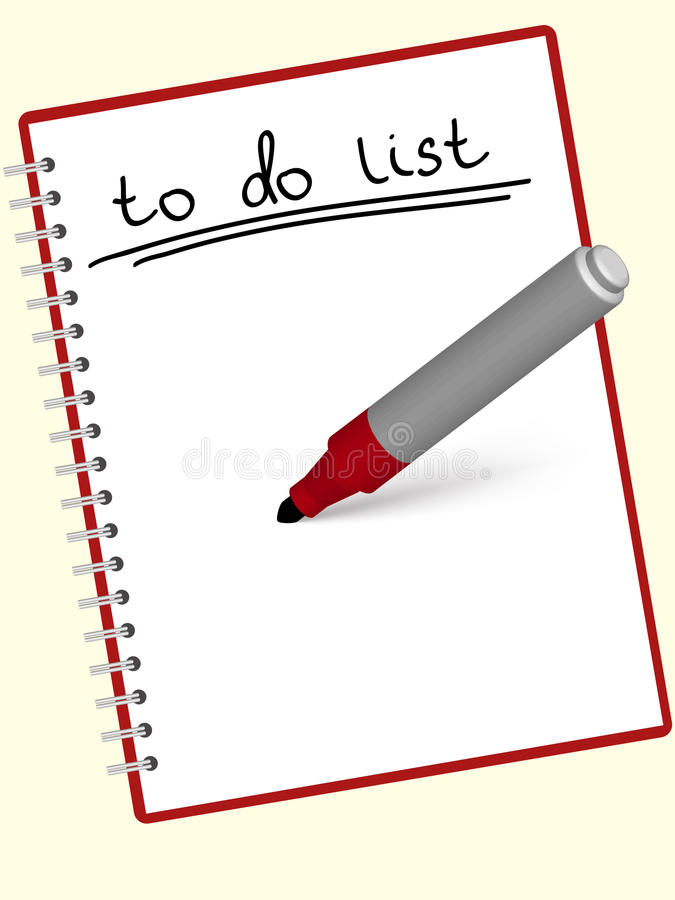 Download To do list stock vector. Image of organizer, organization - 16529754