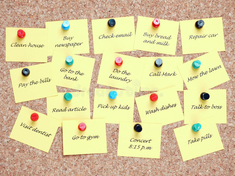 To-do list royalty free stock images