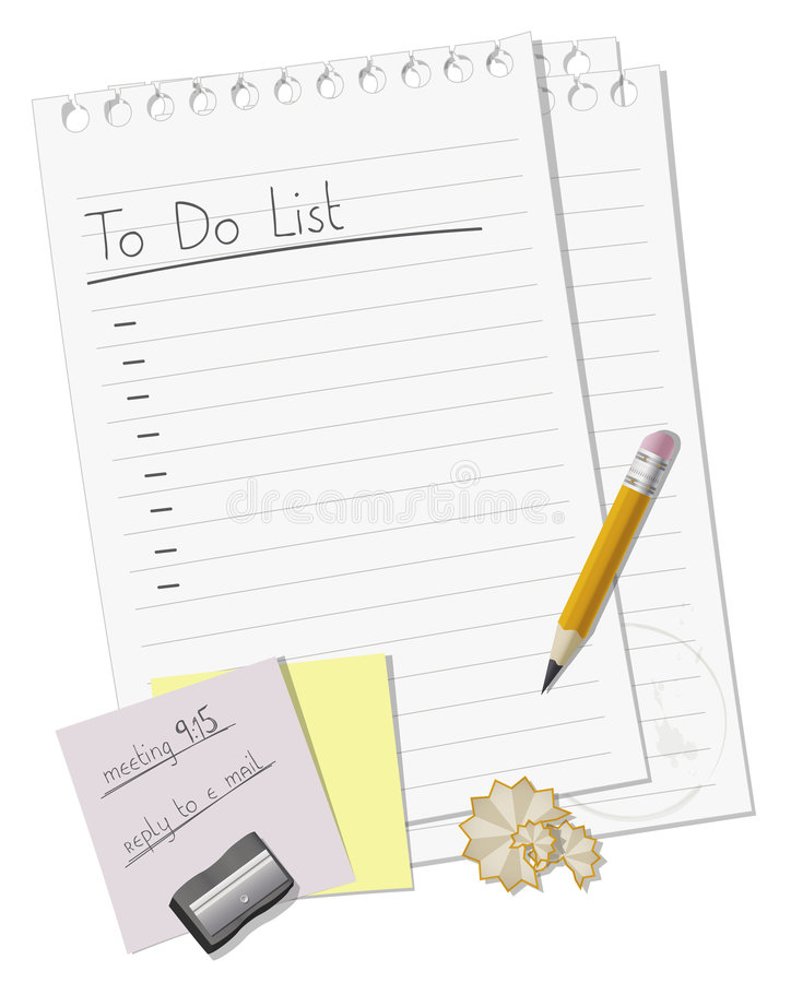 To do list royalty free illustration