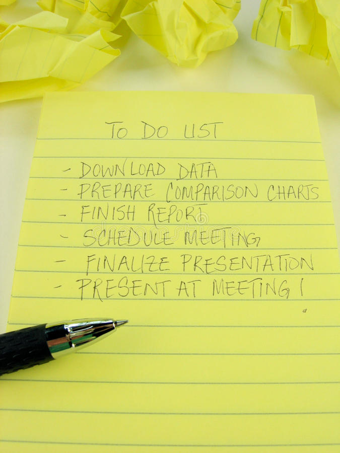 Download To Do List stock photo. Image of crumple, list, paper - 9383026